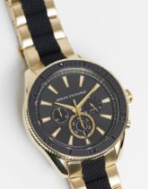 Armani Exchange - Enzo - Armbanduhr in Schwarz/Gold