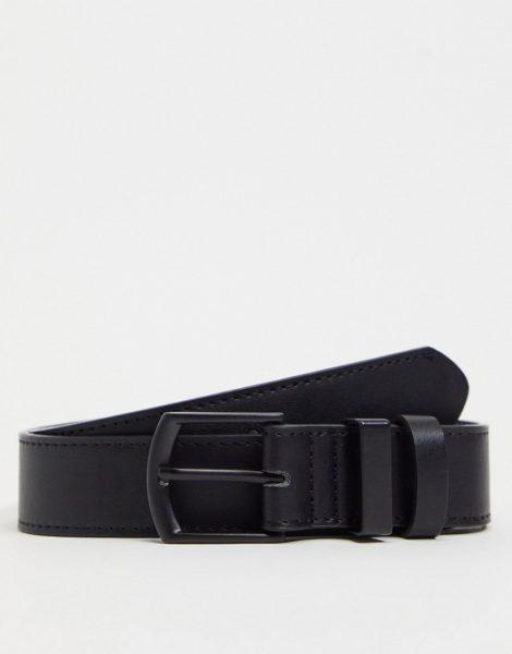 Bershka - Gürtel aus schwarzem Kunstleder