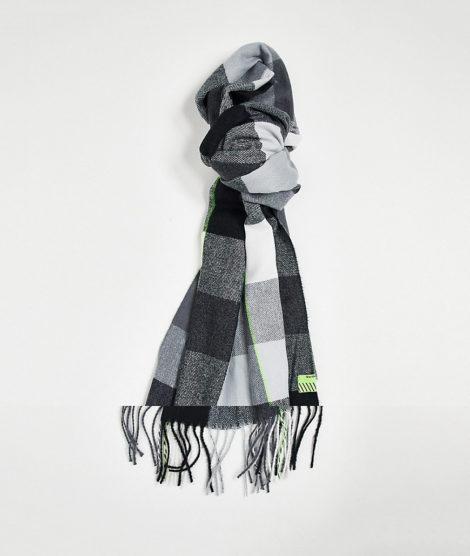 Bershka - Karierter Schal in Schwarz-Grau