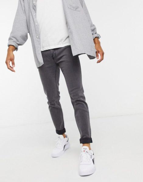 Hollister - Superenge Jeans in Grau