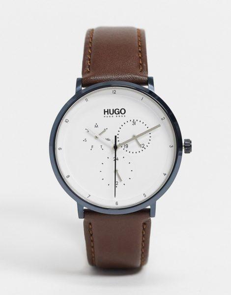 Hugo Boss - Essential - Uhr mit silbernem Zifferblatt-Schwarz