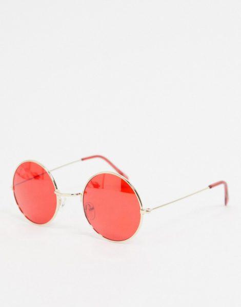 Jeepers Peepers - Runde Sonnenbrille mit roten Gläsern