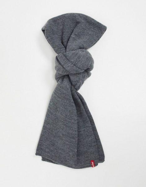 Levi's - Limit - Grauer Schal mit kleinem Logo
