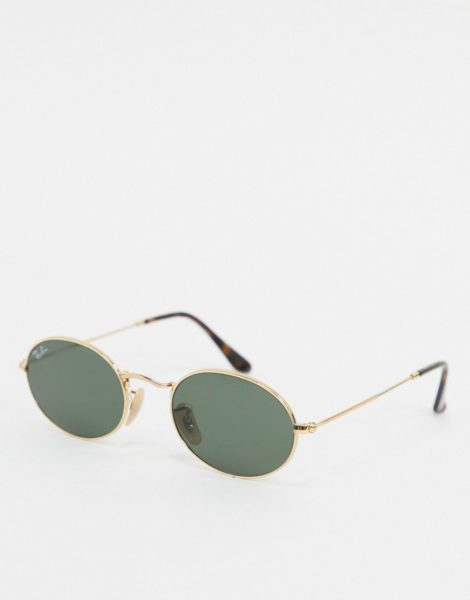 Ray-ban - Ovale Sonnenbrille in Gold, ORB3547N