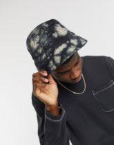 Reclaimed Vintage Inspired - Anglerhut aus Denim mit Batikmuster im Grunge-Stil-Braun