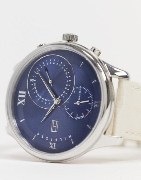 Tommy Hilfiger - Armbanduhr mit blauem Zifferblatt-Beige