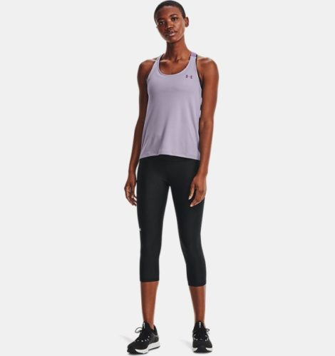 Under Armour Damen HeatGear® Armour Capri-Leggings mit hohem Bund Schwarz LG