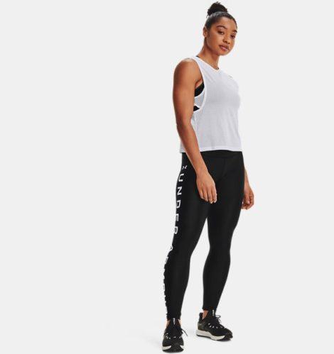 Under Armour Damen HeatGear® Armour Leggings mit Branding Schwarz XL