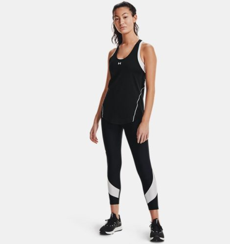 Under Armour Damen HeatGear® Armour Taped 7/8-Leggings Schwarz LG