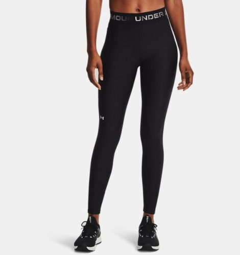 Under Armour Damen HeatGear® Armour Wordmark Waistband Leggings Schwarz LG