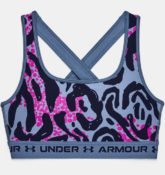 Under Armour Damen Sport-BH Armour® Mid Crossback, mit Aufdruck Blau LG