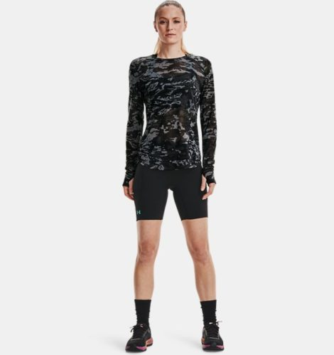 Under Armour Damen UA Breeze Run Langarm-Oberteil Schwarz LG