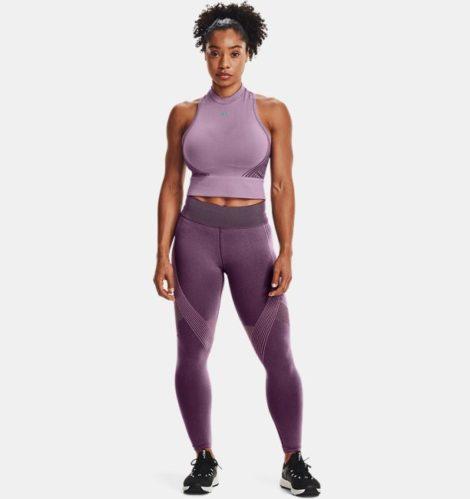 Under Armour Damen UA RUSH™ Seamless 7/8-Leggings Lila LG