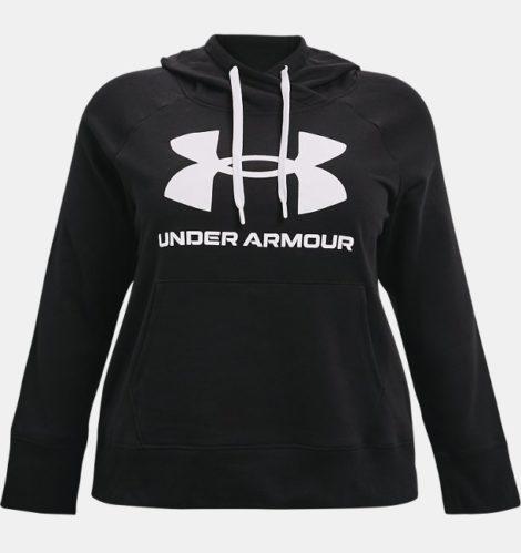 Under Armour Damen UA Rival Fleece Logo Hoodie Schwarz 1X