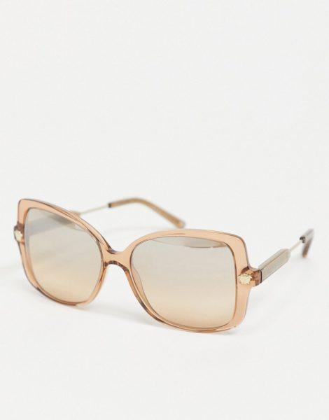 Versace - 0VE4390 - Eckige Oversize-Sonnenbrille in Braun