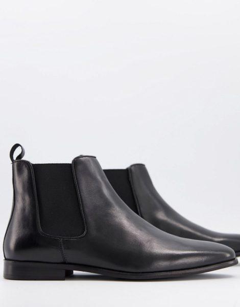 WALK London - Alfie - Chelsea-Stiefel aus schwarzem Leder
