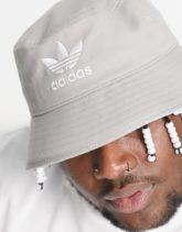 adidas Originals - Anglerhut mit Dreistreifen-Logo in Grau