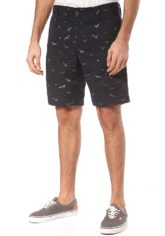 ragwear Karel Print - Chino Shorts für Herren - Blau