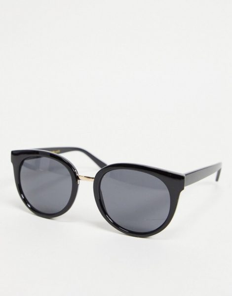 A.Kjaerbede - Gray - Oversize-Cat-Eye-Sonnenbrille für Damen in Schwarz