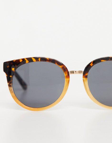 A.Kjaerbede - Gray - Übergroße Cat-Eye-Sonnenbrille für Damen in brauner Schildpattoptik-Orange