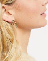 ASOS DESIGN - Auffällige Ohrringe in Goldfarben mit Skulpturdesign