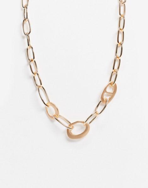 ASOS DESIGN - Goldfarbene Halskette in abstraktem Design