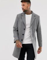 ASOS DESIGN - Grauer Mantel aus Wollmischung
