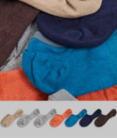 ASOS DESIGN - Kurze Socken in dunkleren Farbtönen im 7er-Pack-Mehrfarbig