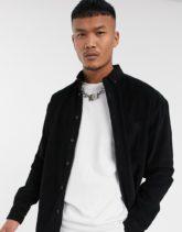 ASOS DESIGN - Oversize-Hemd in Schwarz aus Cord im Stil der 90er-Jahre