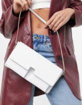 ASOS DESIGN - Weiße Schultertasche mit mehreren Taschen