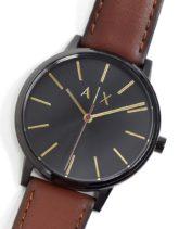 Armani Exchange - Cayde - Armbanduhr mit Lederarmband, AX2706-Braun