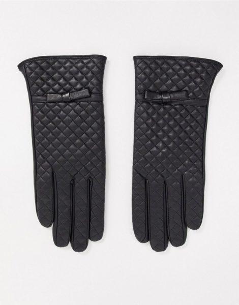 Barney's Originals - Gesteppte Handschuhe aus schwarzem Echtleder