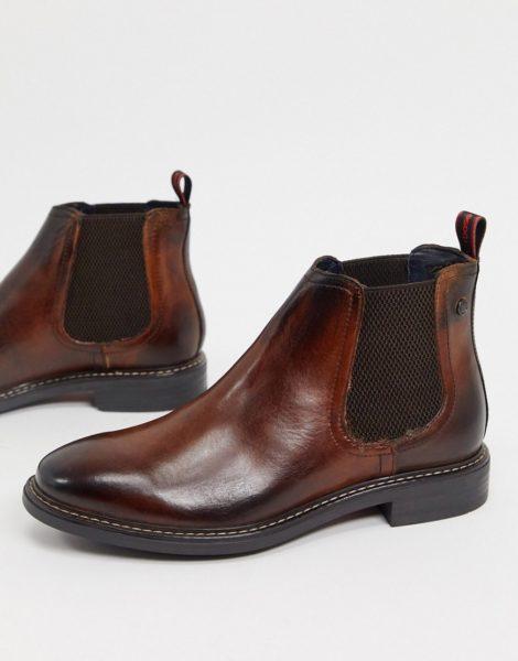 Base London - Seymour - Chelsea-Stiefel aus braunem Leder