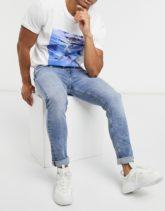 Calvin Klein Jeans - Enge Jeans in heller Waschung-Blau