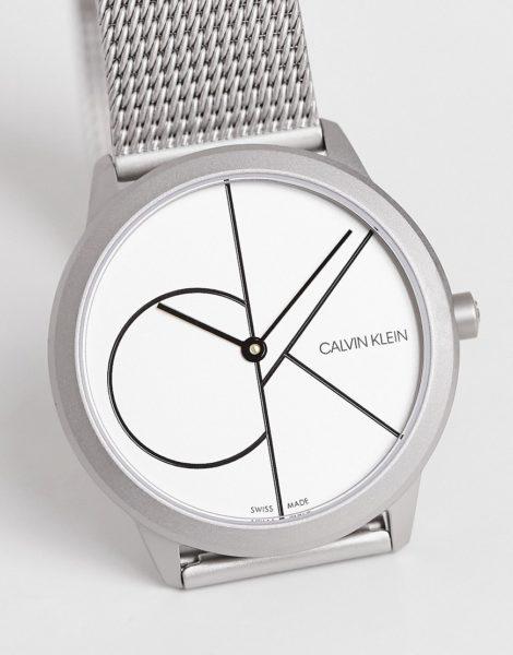 Calvin Klein - Uhr mit Logo-Silber