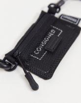 Consigned - Kleine Umhängetasche für Münzen und Kreditkarten-Schwarz