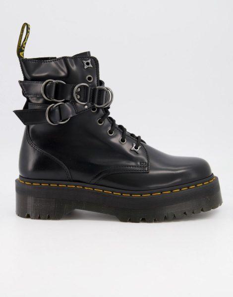 Dr Martens - Jadon - Stiefel mit Metalldetails in Schwarz