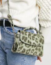 Ego - Mini-Tasche mit grünem Leopardenmuster