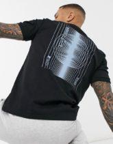 HUGO - Dafu - T-Shirt in Schwarz
