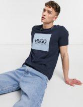 HUGO - Dolive - Marineblaues T-Shirt mit Box-Logo