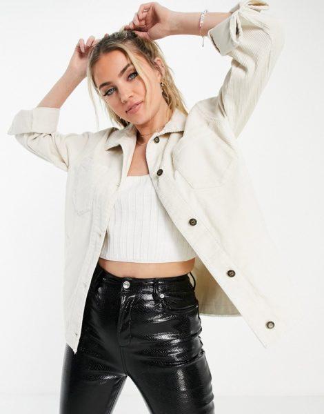 Hollister - Jeansjacke in Creme-Weiß