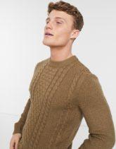 Jack & Jones - Core - Strukturierter Pullover in Beige mit Rundhalsausschnitt
