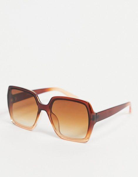 Jeepers Peepers - Eckige Damen-Sonnenbrille in Oversize und Braun