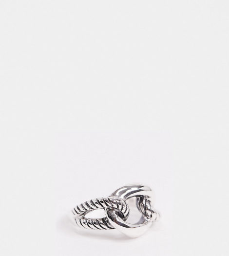 Kingsley Ryan - Statement-Ring aus Sterlingsilber in verschlungenem Design