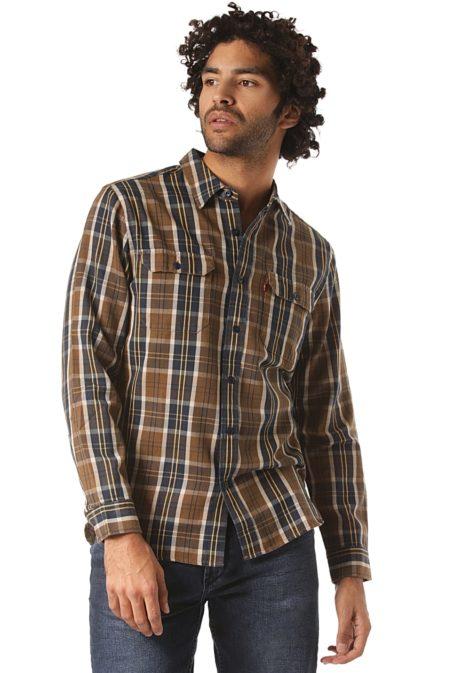 Levi's SKATE Jackson Worker - Hemd für Herren - Braun