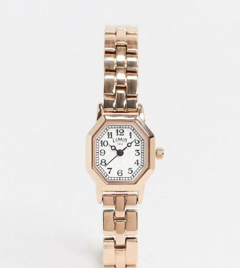 Limit - Octagonal - Armbanduhr in Roségold, exklusiv bei ASOS