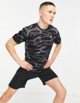 New Balance - Running Accelerate - T-Shirt in schwarzem Military-Muster