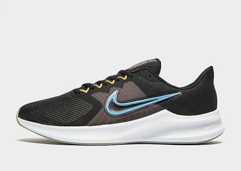 Nike Downshifter 11 Herren - Black/Total Orange/Dark Smoke Grey/Coast - Herren, Black/Total Orange/Dark Smoke Grey/Coast