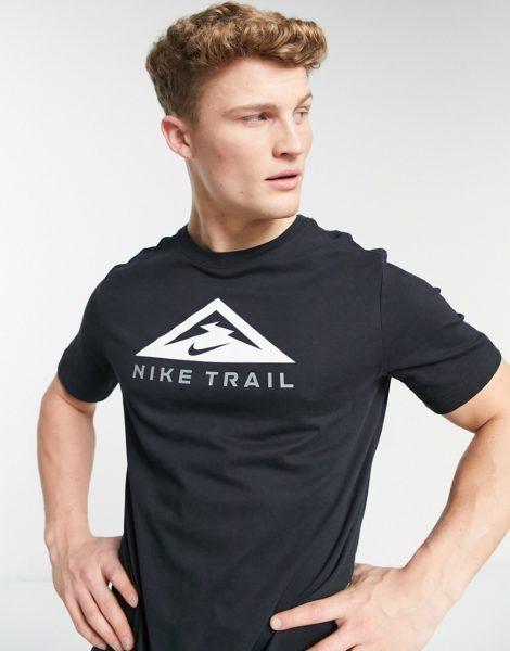 Nike Running - Trail - T-Shirt in Schwarz