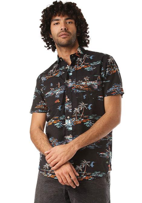 O'Neill Tropical S/S - Hemd für Herren - Schwarz